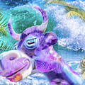 10748 Purple Cow In Paradise by Pamela Williams