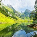 Nature Landscapes Prints by World Map