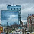 Atlanta Downtown Skyline Scenes In January On Cloudy Day by Alex Grichenko