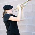 Female Trumpet Player. by Oscar Williams