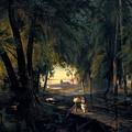 Forest Path Near Spandau by Carl Blechen