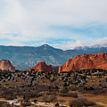 Garden Of The Gods And Pikes Peak by Steve Krull