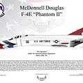 Mcdonnell Douglas F-4e Phantom II Thunderbird by Arthur Eggers