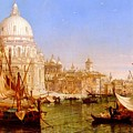 selous Henry Courtney A View Along The Grand Canal With Santa Maria Della Salute Henry Courtney Selous by Eloisa Mannion