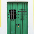 Wooden Door In Old San Juan, Puerto Rico by Jasmin Burton