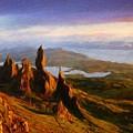Nature Art Landscape Canvas Art Paintings Oil by World Map