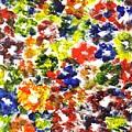 Abstract Flowers by Hema Rana