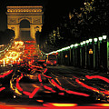 Champs Elysee At Night by Carl Purcell