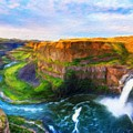 Nature Cool Landscape by World Map