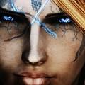 120941 The Elder Scrolls V Skyrim Wizard Blue Eyes by Rose Lynn