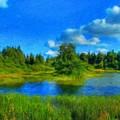 Nature Art Original Landscape Paintings by World Map
