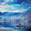Oil Painting Landscape Pictures Nature by World Map