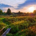 Nature Landscape Work by World Map