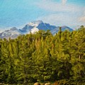 Landscape Paintings Canvas Prints Nature Art  by World Map