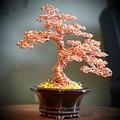 #129 Copper Wire Tree Sculpture by Ricks Tree Art