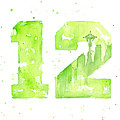 12th Man Seahawks Art Go Hawks by Olga Shvartsur