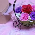 A Gift Of Preservrd Flower And Clay Flower Arrangement, Colorful by Eiko Tsuchiya