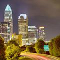 Downtown Of Charlotte  North Carolina Skyline by Alex Grichenko