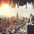 New York Midtown Skyline - Aerial View by Leonardo Patrizi