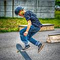 skate park day, Skateboarder Boy In Skate Park, Scooter Boy, In, Skate Park by Jean-Yves Salou