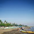 Traditional Fishing Boats On Dili Beach In East Timor Leste by Jacek Malipan