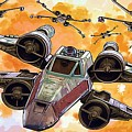 Trilogy Star Wars Poster by Larry Jones