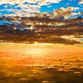 Landscape Paintings Nature by World Map