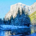 Nature Original Landscape Painting by World Map