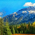 Nature Landscape Painting by World Map