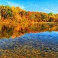 Oil Painting Landscape Pictures by World Map