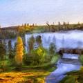 Nature Landscape Oil Painting For Sale by World Map