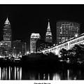 13x10 Cleveland Skyline by Dale Kincaid