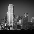 14-0905-145 Dallas Tx Skyline Bw by Lee  Smoot