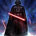 Episode 1 Star Wars Poster by Larry Jones