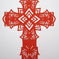 Red Butterfly-cross by Tong Steinle