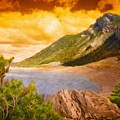 Nature Scenery Oil Paintings On Canvas by World Map