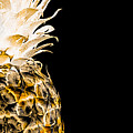 14or Artistic Glowing Pineapple Digital Art Orange by Ricardos Creations