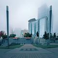 Charlotte North Carolina City Skyline And Downtown by Alex Grichenko