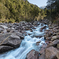 Slow Shutter Photo Of Figarella River At Bonifatu In Corsica by Jon Ingall