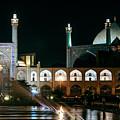 The Shah Mosque Famous Landmark In Isfahan City Iran by Jacek Malipan