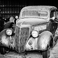 Vintage Autos In Black And White by Alicia Collins