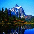 Oil Paintings Art Landscape Nature by World Map