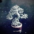 #153 Pea-sized Pot Micro Wire Tree by Ricks Tree Art