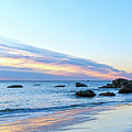 Rocky Daybreak Seascape by Merrillie Redden