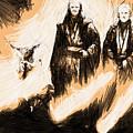 Trilogy Star Wars Art by Larry Jones