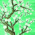 White Tree In Blossom, Painting by Irina Afonskaya