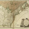 1783 United States Of America Map by Dan Sproul