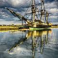 1797 Trading Ship Replica - Friendship Of Salem by Edward Nowak