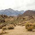 Rocks, Mountains And Sky At Alabama Hills, The Mobius Arch Loop  by Eiko Tsuchiya