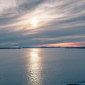 Sunset Over Alaska Fjords On A Cruise Trip Near Ketchikan by Alex Grichenko